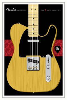 Guitars Signature Series Poster 3 Fender Telecaster The Rolling Stones