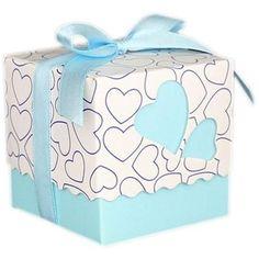 50 PCS Heart Wedding Favor Boxes