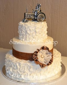 102 Best Cakes Burlap And Lace Images Dream Wedding Rustic Cake