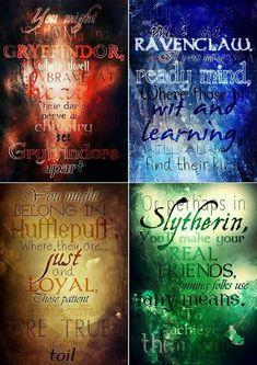 * Hogwarts houses