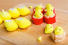 peep sushi for easter {cute}