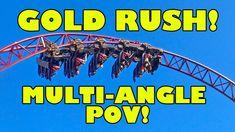 Gold Rush Roller Coaster AMAZING Multi Angle POV! Slagharen Netherlands