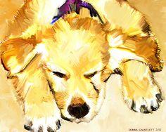 #digital artwork #Photoshop #paint mixer the beauty of sleeping puppy Donna Gauntlett