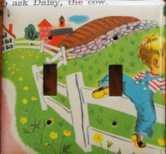 Vintage 1951 Children's Book Illustration Light by PaperMoontage, $10.00