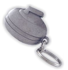 Aitkens Pewter - Curling Rock Keytag Curls Rock, Curling, Saddle Bags, Pewter, Drawing, Sports, Tin, Hs Sports, Sling Bags