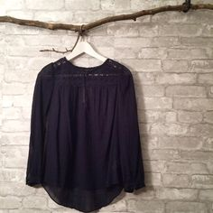 NWT Jcrew sheer navy blue top Beautiful Jcrew sheer navy blue blouse. Brand new condition tags still on. I am a top-rated seller and fast-shipper  J. Crew Tops