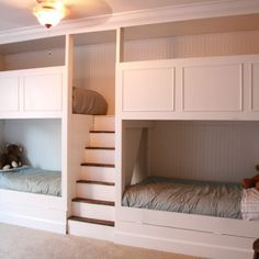 Bunk Beds Designs built in bunk beds with trundle bed. gives plenty of sleeping
