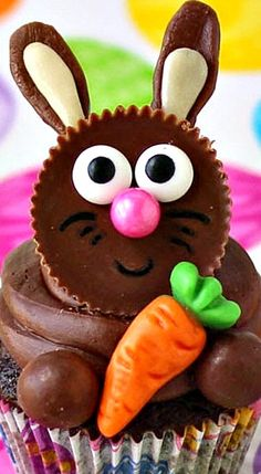 Reese's Cup Easter Bunny Cupcakes ❊