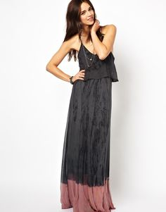 Gypsy 05 | Gypsy 05 Layla Silk Maxi Dress with Overlay Top at ASOS