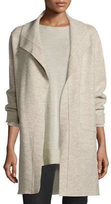 Shop Now - >  https://api.shopstyle.com/action/apiVisitRetailer?id=619468901&pid=2254&pid=uid6996-25233114-59 Eileen Fisher Boiled Wool Funnel-Neck Coat  ...