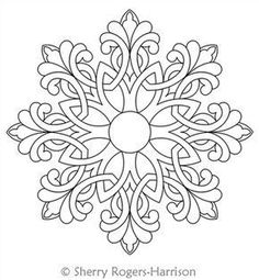 Snowflake Medallion Digital Quilting Design Celtic Snowflake Medallion by Sherry Rogers-Harrison.Digital Quilting Design Celtic Snowflake Medallion by Sherry Rogers-Harrison. Quilt Studio, Folk Embroidery, Embroidery Patterns, Indian Embroidery, Modern Embroidery, Flower Embroidery, Embroidery Stitches, Machine Embroidery, Mandala Coloring Pages