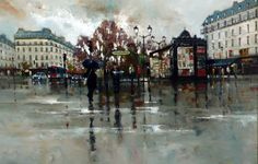 Gallery :: Peter Fennell - OIL :: 23 Louvre, Oil, Gallery, Building, Travel, Painting, Viajes, Roof Rack, Buildings