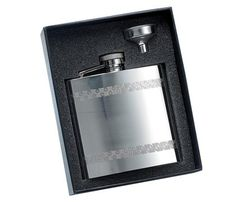 Personalized Stainless Steel Flask with Funnel  Gift Boxed *** You can find out more details at the link of the image.