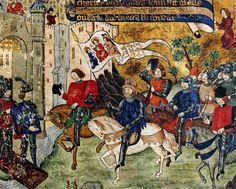 Jeanne d'Arc se rend au château de Loches à la rencontre de Charles VII