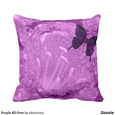 Purple All Over Throw Pillow