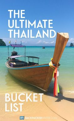 Planning a trip to Thailand? Trying to figure out what amazing Thai adventures to pack into your itinerary? Here's some of my top Thailand Bucket List ticks that you can't leave without doing!