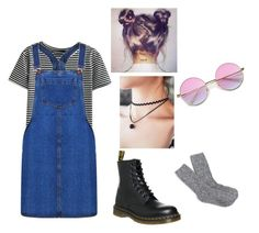 Dungaree Days 🌸 by joannalawler98 on Polyvore featuring polyvore, fashion, style, Boohoo, WithChic, J.Crew, Dr. Martens, ZeroUV and clothing