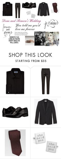 """""""Dean and Bianca's Wedding"""" by shriquinn ❤ liked on Polyvore featuring Near North, Dsquared2, Calvin Klein, Yves Saint Laurent, La Vie en Rose, men's fashion and menswear"""