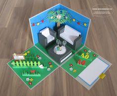 Geschenkbox Gartenlounge Überraschungsbox Explosionsbox Geldgeschenk Geburtstag Gartenmöbel Gutschein