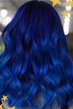 Dark Blue Hair Dye, Blue Tips Hair, Bright Blue Hair, Vivid Hair Color, Hair Dye Tips, Blue Ombre Hair, Pretty Hair Color, Hair Dye Colors, Dye My Hair