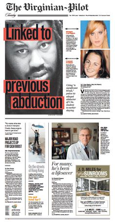 The Virginian-Pilot's front page for Tuesday, Sept. 30, 2014.