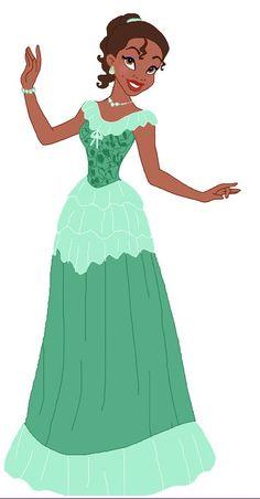 Princess Tiana's Beautiful Dress by unicornsmile Disney Princess Fashion, Disney Princess Art, Disney Fan Art, Disney Style, Disney Love, Tiana And Naveen, Princess Tiana, Princesa Tiana Disney, Disney Pixar