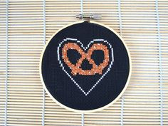 Miss Minoes :: blog: Pretzel Love Crossstitch for Make-A-Wish