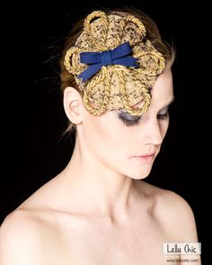 MERMAID fascinator/ hat. Golden and beautiful. Certainly looks more beautiful in reality.