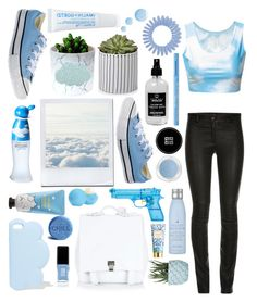 """BLUE SKY"" by yolanda-nevia ❤ liked on Polyvore featuring ElleSD, Moschino, STELLA McCARTNEY, Converse, Proenza Schouler, Sephora Collection, JINsoon, Chen Chen & Kai Williams, Drybar and AERIN"