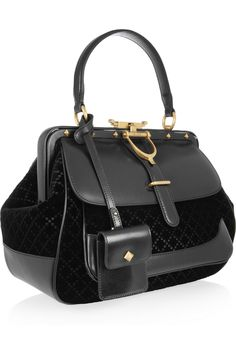 Gucci. Leather and quilted velvet tote. NET-A-PORTER.COM