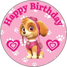 Paw Patrol Cupcake Toppers, Paw Patrol Cupcakes, Girl Paw Patrol Party, Paw Patrol Birthday Girl, Paw Patrol Cake Decorations, Birthday Cup, Happy Birthday, Cricut, Kitchen