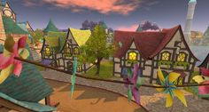 Fantasy Faire 2016 Sim - Bright Haven Woodland, Sims, Fairy Tales, Bright, Fantasy, Painting, Summer, Mantle, Painting Art
