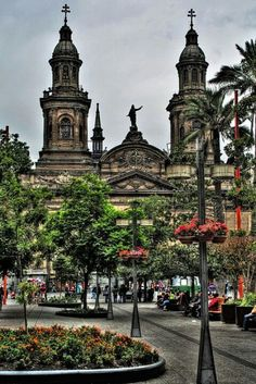 Santiago Cathedral, Chile -- Chile is high on our S. America list, and I hear Santiago is a lot like European cities! Places Around The World, Oh The Places You'll Go, Places To Travel, Places To Visit, Around The Worlds, Tours, South America Travel, Kirchen, Peru