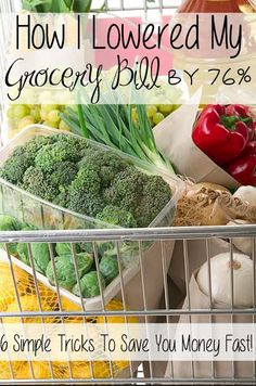 How I lowered my grocery bill by 76%!