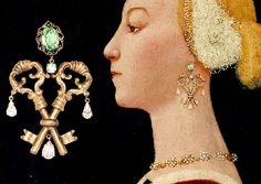 Portrait of a Woman, Paolo Uccello. The Dolce & Gabbana Fall Winter 2014-2015 key themed jewelry collection