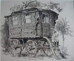The story of one showman's wagon #horse #animal #creature #pet #life #equine #wagon #caravan #roulotte