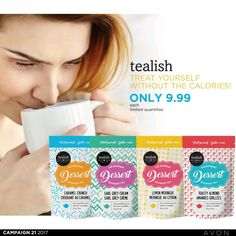 Calorie free Dessert Tea! Another awesome New item offered by Avon