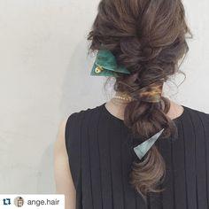 クリップと バレッタの 重ねづけ  実はモデルは @japaris_2012 さんで アレンジは @ange.hair さんです  クリップと バレッタの 重ねづけ  実はモデルは @japaris_2012 さんで アレンジは @ange.hair さんです