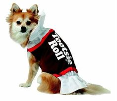 "Let me see your ""Tootsie Roll!"" - This adorable Tootsie Roll Dog Costume will have your pup doing a dance for sure! Your dog will love this sweet costume!"