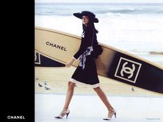 Chanel Surfing Style.