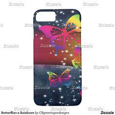 Butterflies n Rainbows iPhone 7 Case