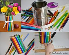 Teacher Gift: Colored Pencil Vase