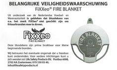 Belangrijke veiligheidswaarschuwing FiXXeo fire blanket | Medemblik Actueel