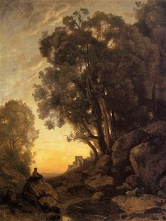 The Italian Goatherd - Camille Corot, c.1847 this is beautiful....I want this print for my living room