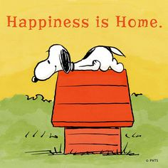 Happiness is ... home.