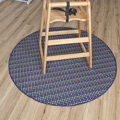 Spot Print Round Floor Mat