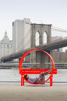 "Mirror Labryinth, Twisted Park Benches and Disappearing Rooms of Water at Brooklyn Bridge Park - My Modern Met Jeppe Hein ""Please Touch the Art"".  The show consists of 18 interactive works that are both fun and surprising."