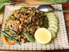 Fried Rice With Blistered Green Beans and BasilReally nice recipes. Every hour.Show me what you cooked!