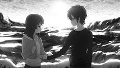 love Black and White japan kawaii quotes Otaku tokyo love quotes cute gif black…
