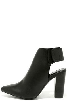 Point Made Black Pointed Toe Booties